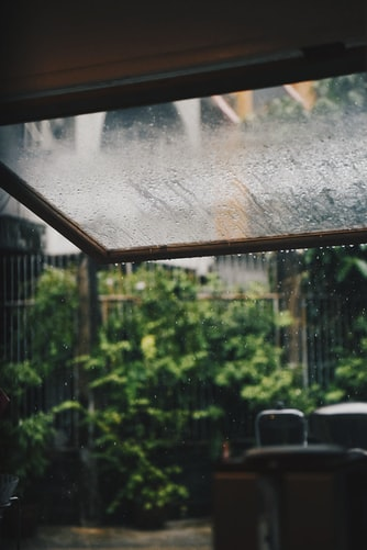 Raining outside